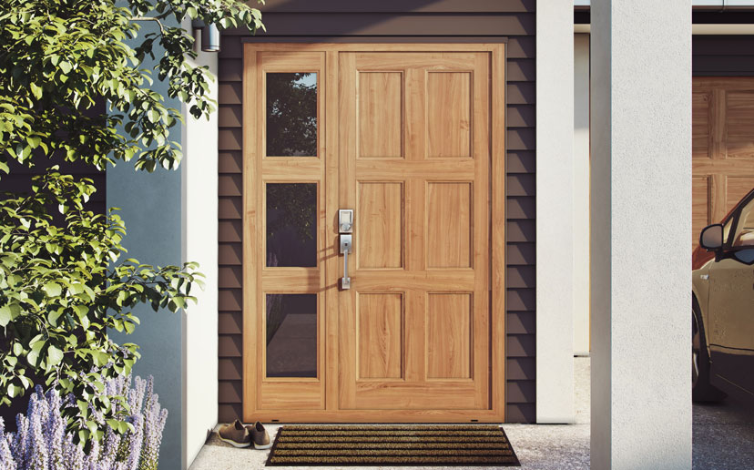 To add further character or to brighten your entranceway there are a range of woodgrain finishes and glazing options available. & Platinum doors